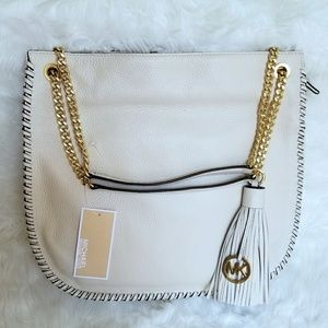 MICHAEL KORS WHIPPED CHELSEA  LEATHER LARGE TOTE